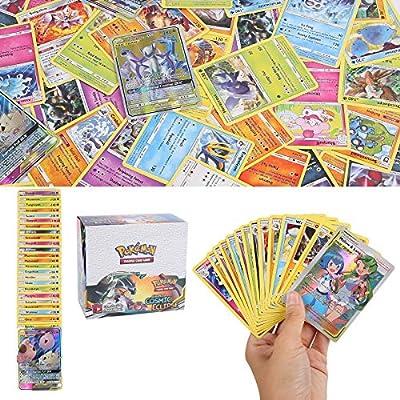 YNK 324 Piezas Pokemon Cartas, Juego de Cartas, Tarjetas de Pokemon, 36 Piezas GX Cartas, Hidden Fate Series und Cosmic Eclipse Series (5) de YNK