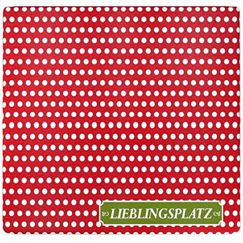 Sitzz Kissen faltbar/klappbar, Motiv Lieblingsplatz Rot, Maße: 33 cm x 29,5 cm x 3,3 cm