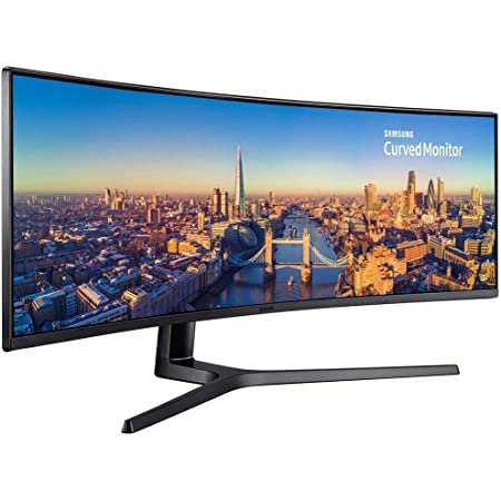 SAMSUNG C49J890DKN, CJ890 Series 49 inch 3840x1080 Super Ultra-Wide Desktop Monitor for Business, 144 Hz, USB-C, HDMI, DisplayPort, 3-Year Warranty