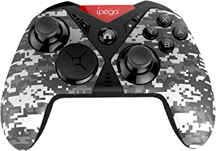 ipega PG-SW001 Game Controller Wireless Pro Controller for Nintendo Switch Android System Device PC Device, Built-in Dual Motor Vibration, six-axis Body Function, 3D Interchangeable Function,Gray