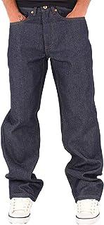 Rocawear Men's Double R Loose Fit Denim Jeans, Black Blue Grey