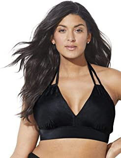 Swimsuits For All Women's Plus Size Loop Strap Halter Bikini Top