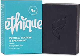 Ethique Eco-Friendly Bodywash Bar, Pumice, Tea Tree & Spearmint, Sustainable Natural Bodywash for Deep Cleanse & Exfoliati...