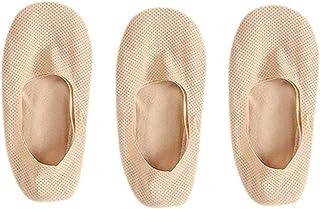 Calcetines De Verano para Hombres Calcetines Antideslizantes Ultrafinos Calcetines Furtivos Medias De Hielo Transpirables Calcetines De Sección Delgada De Moda 5 Beige