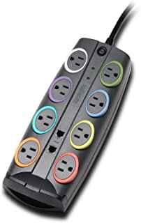 Kensington SmartSockets 8-Outlet, 8-Foot Cord, & 2490 Joules Standard Surge Protector (K62690NA)