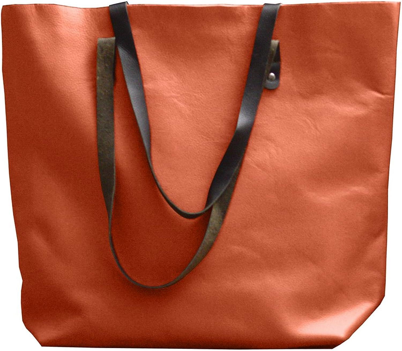 Xport Designs Vintage Large Leather Tote Personalized Carryall  Women Work Bag  Laptop Bag  Leather Shoulder Bag  One Piece Leather Office Bag  Ladies Handbag  Women Tan Leather Tote Bag