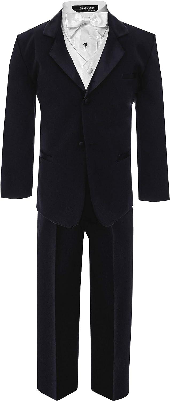 Little Boy's Formal Dresswear Set G260 (5, Black/White)