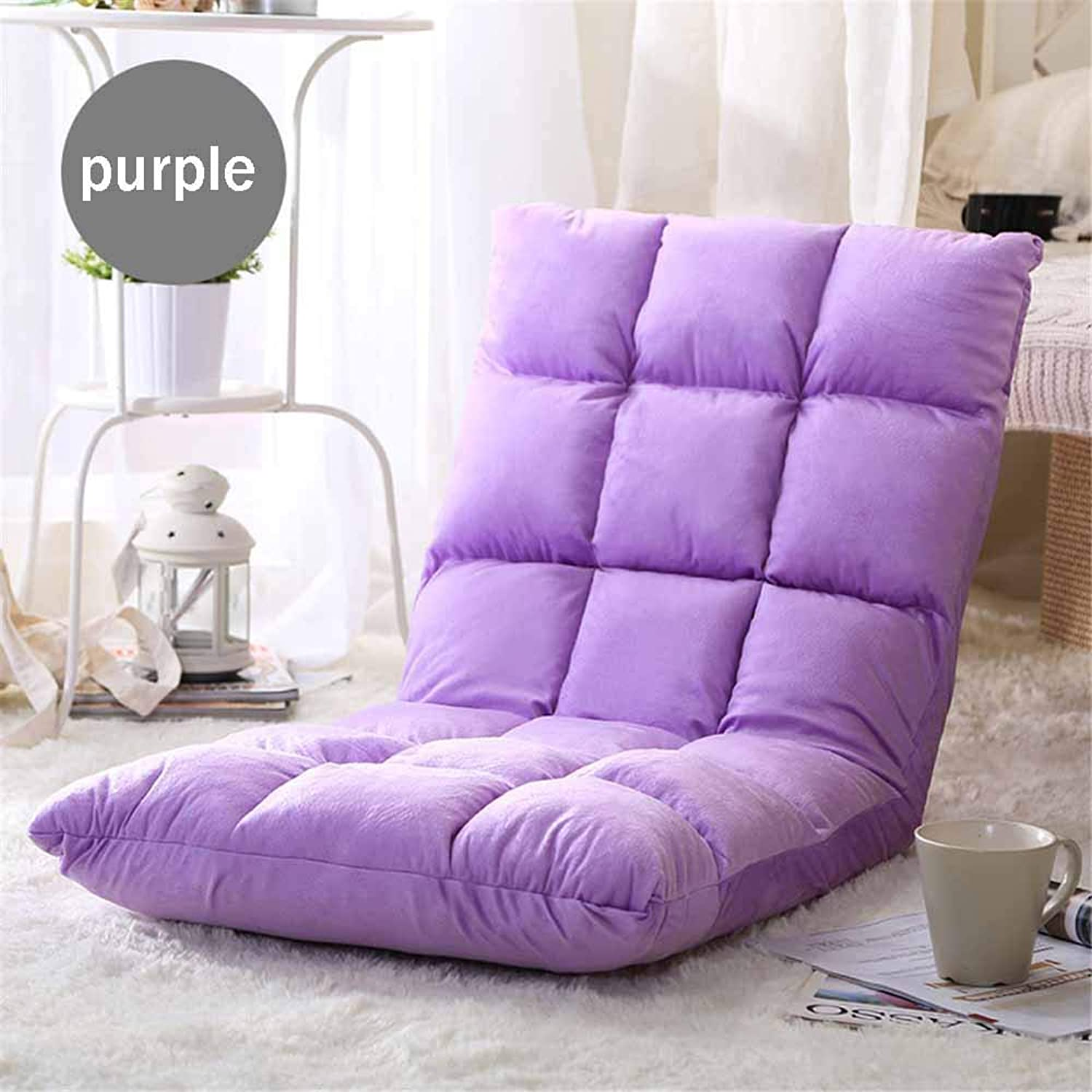 Cushion Lazy Sofa Plush Position Comfortable Adjustable Gear Soft and Comfortable Environmental Predection for Relief Padding Chair Seated Pain,Purple,80X40X13CM