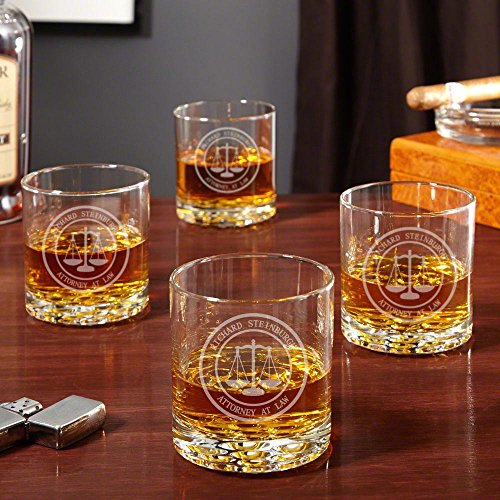 Scales of Justice Whiskey Glasses