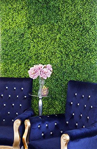 Apac Vert haie Fleur en Soie Panneau Mural 50 cm x 50 cm Mariage Décor de Fond