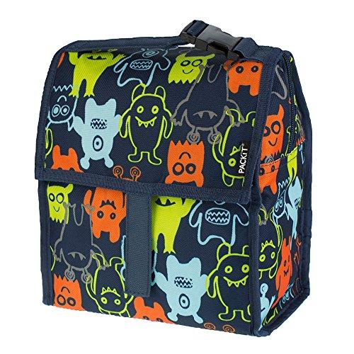 PACKIT Kühltasche Einfrierbar Lunch bag, Monsters, 12.7 x 21.6 x 25.4 cm, 4.4 Liter