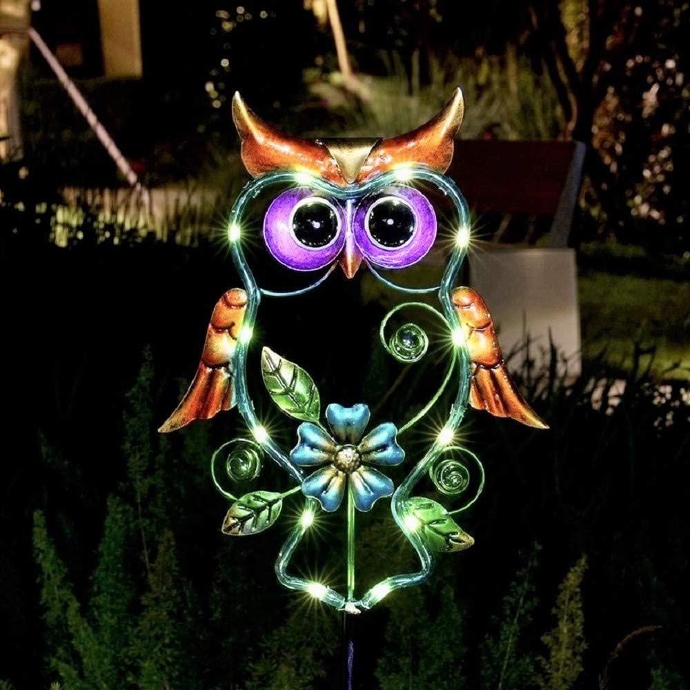 Solar Lights Outdoor ! Super beauty product restock quality top! Decorative Alternative dealer Garden Decorations for Owl Stake