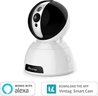 Vimtag® Dome Cámara Vigilancia IP Cámara WIFI Smart Home Cámara con visión nocturna movimiento de alarma Auto giratorio 2 Vías de audio Hogar Monitor Baby Monitor App iOS/Android/PC