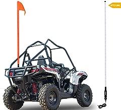 Beatto 6FT(1.8M) Red LED Whips Light LED Safety Flag Whips Light LED Antenna Light For Off- Road Vehicle ATV UTV RZR Jeep Trucks Dunes