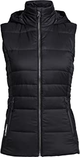 Icebreaker Merino Women's Stratus X Hooded Vest, Large, Black/Jet Heather