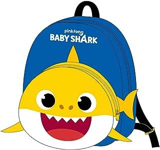 Guarderia Baby Shark de Color Amarillo-Mochila de 28 cm | Licencia Oficial Nickelodeon, Niños, Multicolor, Infantil