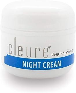 Cleure Night Cream for Sensitive Skin | Fragrance - Gluten - Salicylate - Paraben Free | Shea Butter, Hyaluronic Acid | 2 Oz