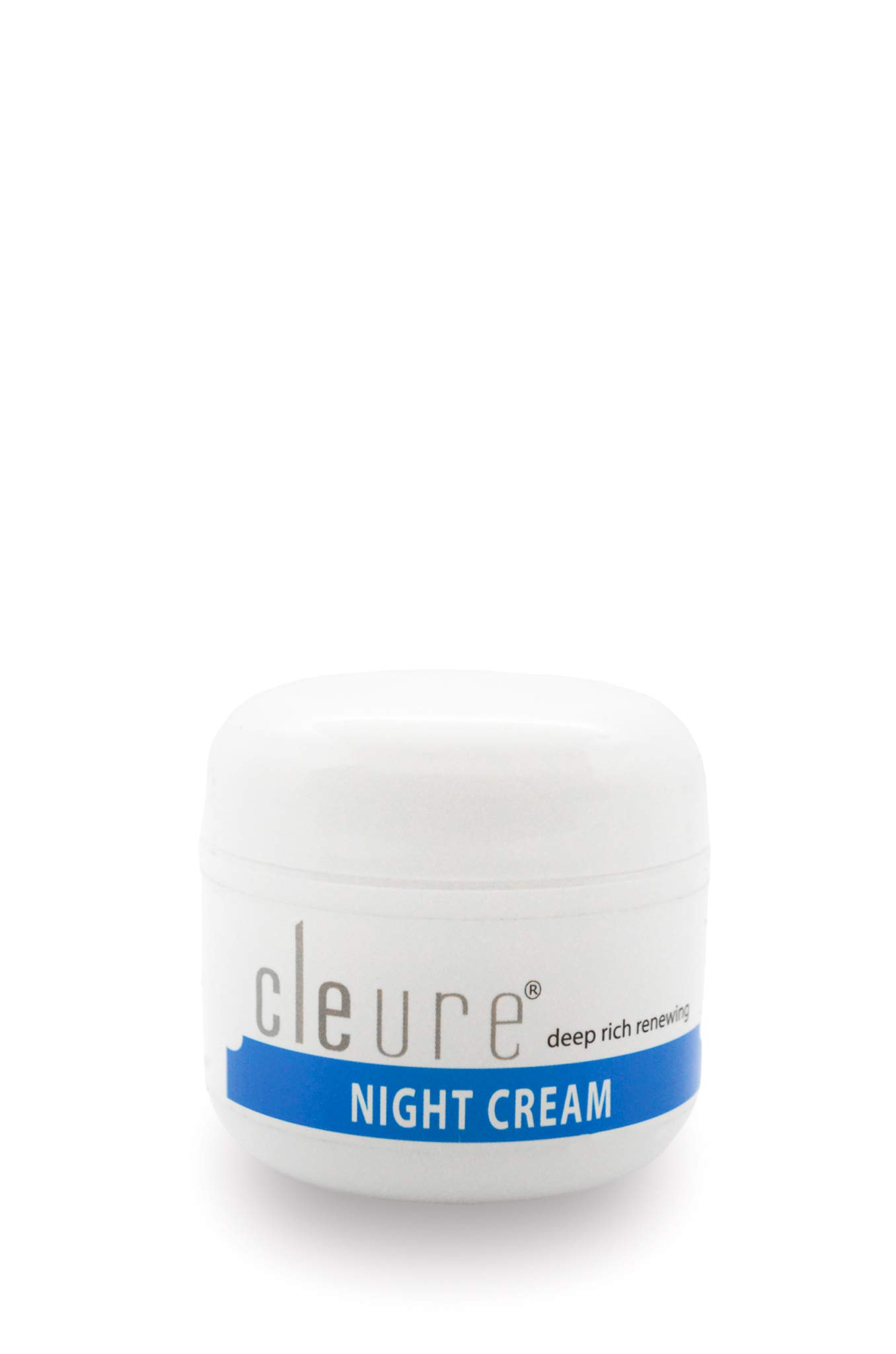 Cleure Hyaluronic Acid and Shea Butter Anti-Aging Night Cream for Sensitive Skin, Fragrance, Gluten, Salicylate and Paraben Free, 2 oz