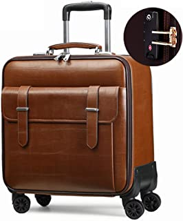 Trolley Case PVC Travel Carry On Cabin Hand Luggage Suitcase with 4 Wheel, Flight Approved Laptop Compartment Trolley Bag, Multi-function Expandable Waterproof Flight Bag Case. Travel Luggage Carry-On