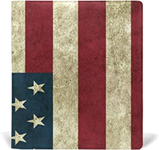 Nander American Flag PU Leather Book Covers Hardcover Textbooks School Book Protector 9x11in Exquisite for Textbook Child Kids