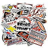 Racing Sticker Pack 100PCS (2 x 50PCS) for Motorcycle Skateboard Helmet Vinyl Laptop Bike Bicycle Cars Bumper with Waterproof PVC
