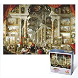 LXFENG Mini 1000 Piezas Puzzles Adultos y niños Juguetes educativos Mundial de la Arquitectura del Paisaje Roma Moderna DIY Decoración Puzzle (42 x 29,7 cm)