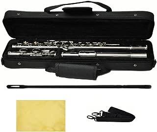 Hallelu HFL-200 Flute W/case Nickel Plated Keys