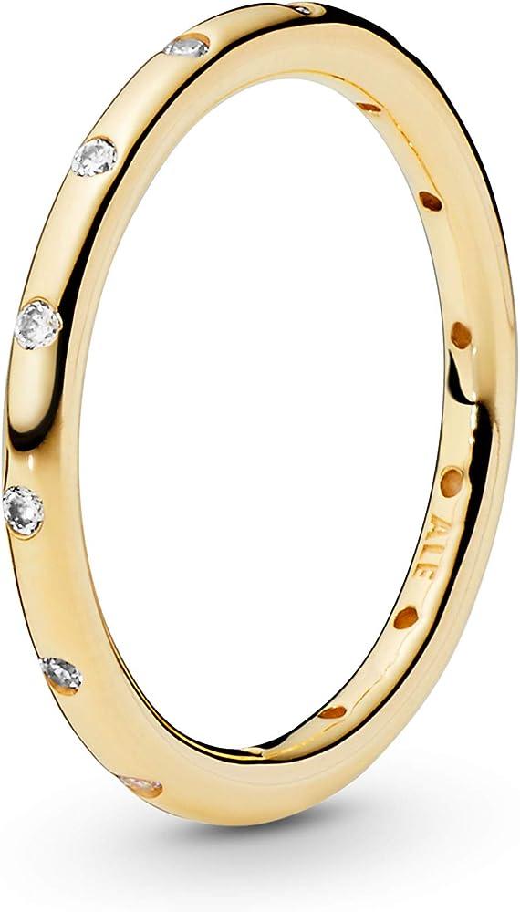 Pandora anello donna in oro 14k con zirconi. 150178CZ-48