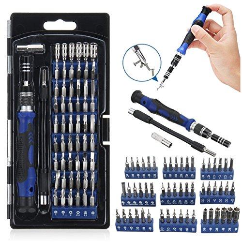 MJJEsports 58 In 1 Multi-functie Precisie Schroevendraaier Kit met 54 Bits voor Telefoon Horloge Zonnebril Reparatie Tool