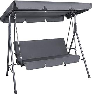 Gardeon Outdoor Garden Swing Rocking Chair with Canopy-Grey