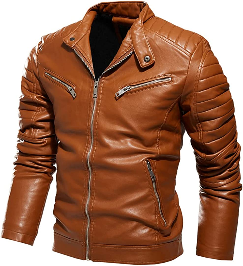 Men's Autumn And Winter Coat Leather Jacket Motorcycle Style Male Business Jackets