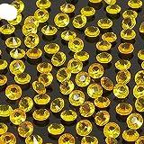 2000Pcs 4.5mm Decoración de la boda Rhinestones Mesa DIY Non Hot Fix Flat Back Strass Tela de costura Prenda Nail Art Rhinestones-Gold Orange