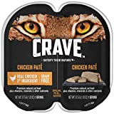 Crave Grain Free Adult High Protein Wet Cat Food Paté Chicken, (24) 2.6 Oz. Twin-Pack Trays