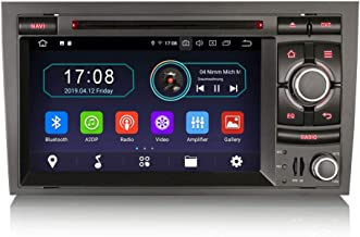 Erisin Android 9.0 Autoradio Sat Nav Navigation Reproductor de DVD 2 DIN para Audi A4 S4 RS4 B9 B7 Asiento EXEO Soporte Bluetooth WiFi SWC A2DP RDS FM/Am Dab + DVB-T2 OBD TPMS PX30 2GB RAM + 16GB ROM