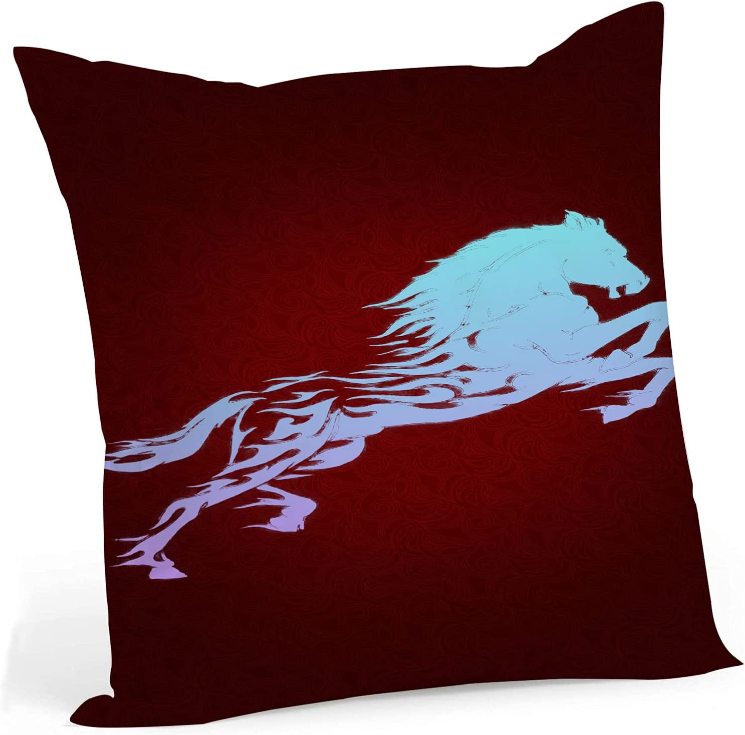fucyBu Sci fi Horse Ranking TOP1 Cool and Inser Cotton Pillow Majestic Fabric New popularity