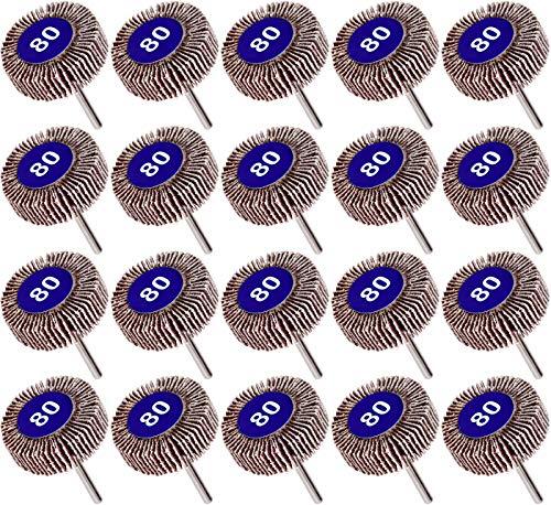 Winfred 20 Pezzi di Carta Vetrata per Trapano a Disco a Grana 80, Carta Vetrata per Trapano, Levigatrice per Trapano per Legno Metallico