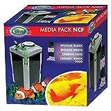 Aqua Nova Media Pack NCF 1000 1200 1500 Filtro – Anillos de carbono y cerámica y esponja
