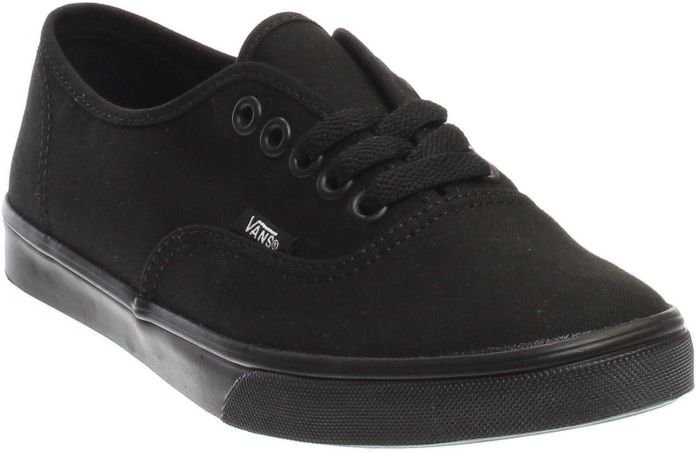 Vans Classic Authentic Lo Pro Black Black Womens Trainers Size 7.5 UK