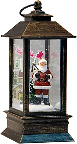 wholesale RiamxwR Christmas Interior Small Wind Lantern outlet online sale Christmas Tree Santa Claus Snowman Table Lamps Home online sale Table Decoration (Santa Claus) online