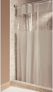 iDesign Hitchcock EVA Plastic Shower Liner Mold and Mildew Resistant for use Alone or With Fabric Curtain for Master, Gues...