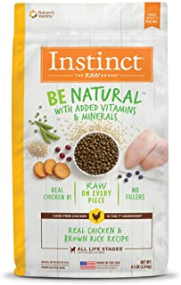 Instinct 6175280 Be Natural Real Chicken & Brown Rice Recipe Dry Dog Food, 4.5lb