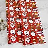 10 Stück Weihnachtspapier, Weihnachtspapier Geschenkpapier Geschenk Geschenk Baum Santa Wrap...