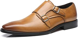 Mens Double Monk Strap Slip-on Loafer Oxford Formal Business Casual Dress Shoes for Men