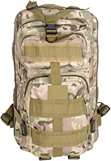 Yescom 30L Military Army Rucksacks Molle Backpack Camping Hiking Trekking Travel Sport Ourdoor Bag Multi-Color