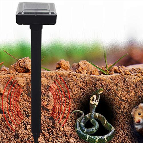Harddo Solar Power - Ahuyentador de Animales por ultrasonidos, Funciona con Pilas, Impermeable, antiplagas, para Exteriores, para roedores con ratón de Serpiente