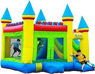 Castillos hinchables Parque Inflable para Niños En El Hogar Tobogán para Niños Al Aire Libre Cama Elástica Interior para Jugar A La Cama Elástica (Color : Blue, Size : 410 * 380 * 410cm)