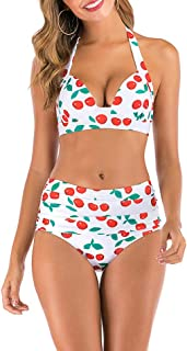 E-girl S130 - Bikini de cintura alta para mujer blanco-1 48