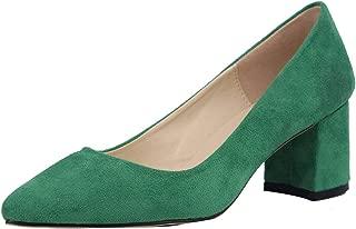Classique femmes cuir véritable bout carré robe Escarpins Travail Professionnel Chaussures