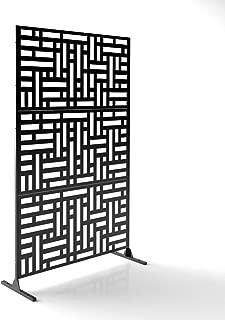 Veradek Blocks Decorative Screen Set w/Stand - Black
