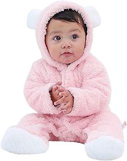 63b726fb34e Suma-ma Baby Winter Cartoon Sheep Pajamas Newborn Snowsuit Fleece Hoodie  Romper